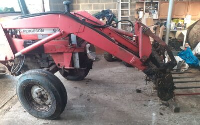 Project – Weld repair to Massey Ferguson 675 loader