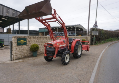 Mitsubishi MT26 compact loader tractor, small tractor with rotovator- SOLD