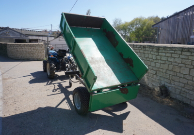 1.5 ton hydraulic tipping trailer for compact tractor or small tractor- SOLD