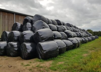 Bails of Hay wrapped and ready to go   HandyCompactTractors.co.uk