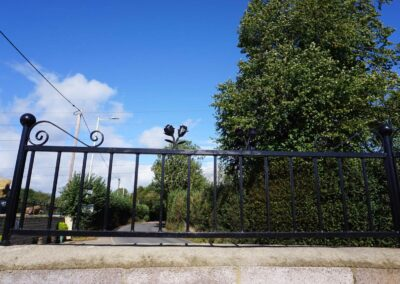Bespoke welded iron railings for our farm