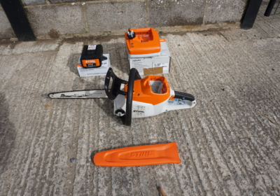 Sthil MSA 200 C battery chainsaw (14″ bar) with new AP200 battery and charger